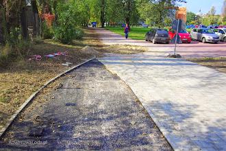 Photo: Niestety, tak wygląda zakończenie drogi dla rowerów. Dalej ma powstać ciąg pieszo-rowerowy. Z jakiej nawierzchni?