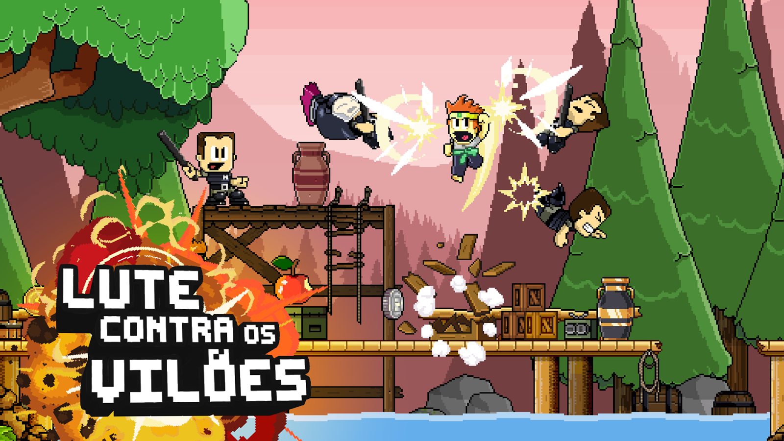 Dan the Man: Action Platformer: captura de tela
