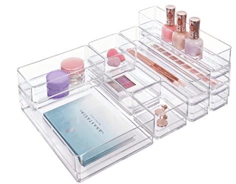 clear plastic makeup storage & organizer