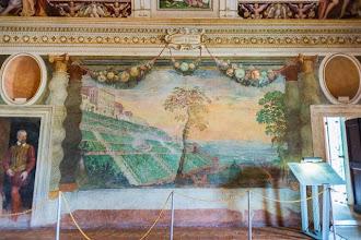 """Photo: Mural in the Fountain Room or """"Sala della Fontana"""" in Villa d'Este in Tivoli, Lazio, Italy"""