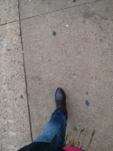 Photo: My trusty boots, trench and scarf did the job of keeping me warm and dry.