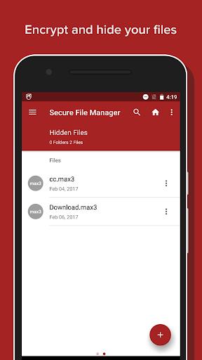 Secure File Manager screenshot 1
