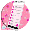 Pink SMS Go Theme icon