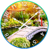 Garden Clock Live Wallpaper