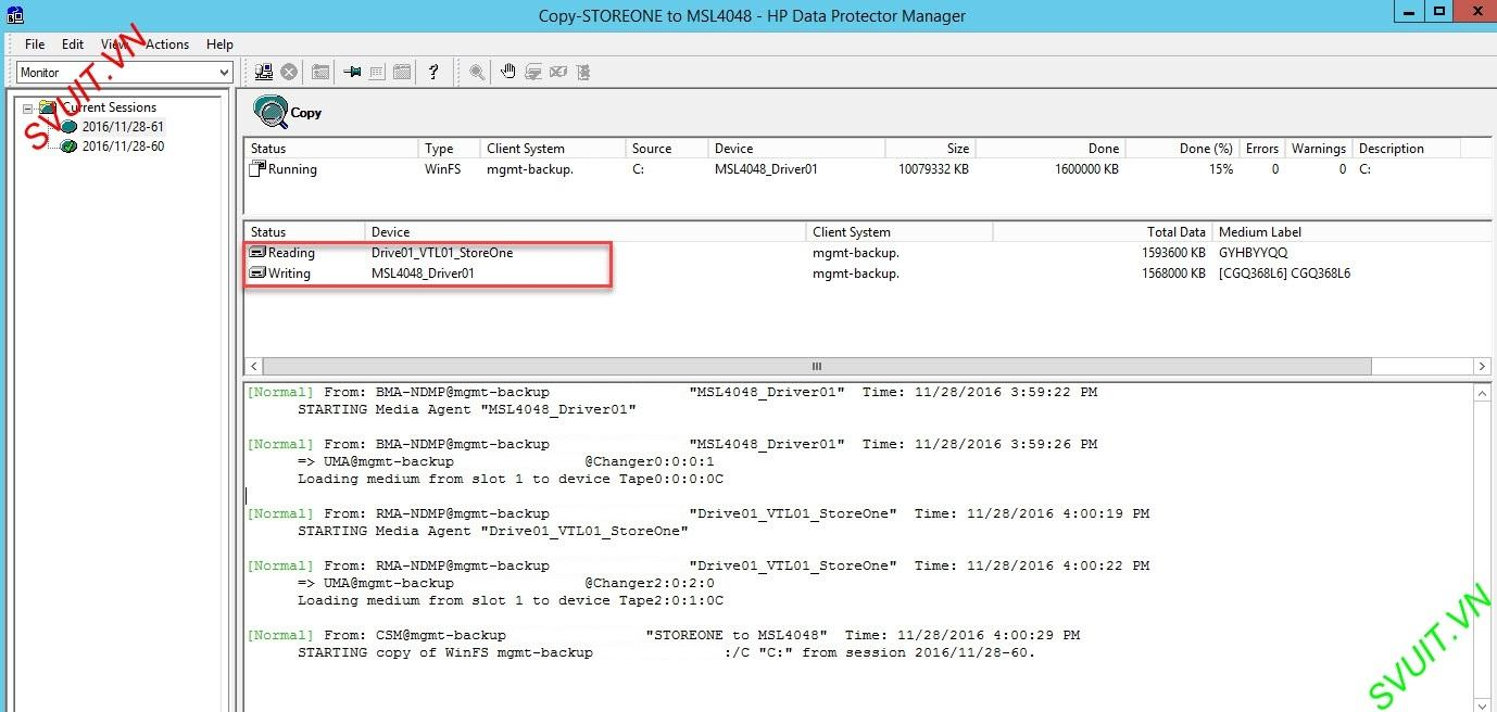 Object copy session - HP Data Protector (3)