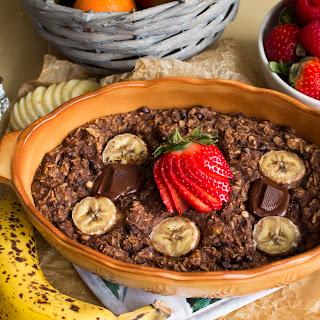 Chocolate Maca Baked Oatmeal