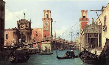 """Photo: Canaletto, """"L'entrata dell'Arsenale"""" (1732)"""