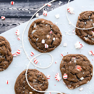 <span></span>Fudgy Double Chocolate Peppermint Cookies