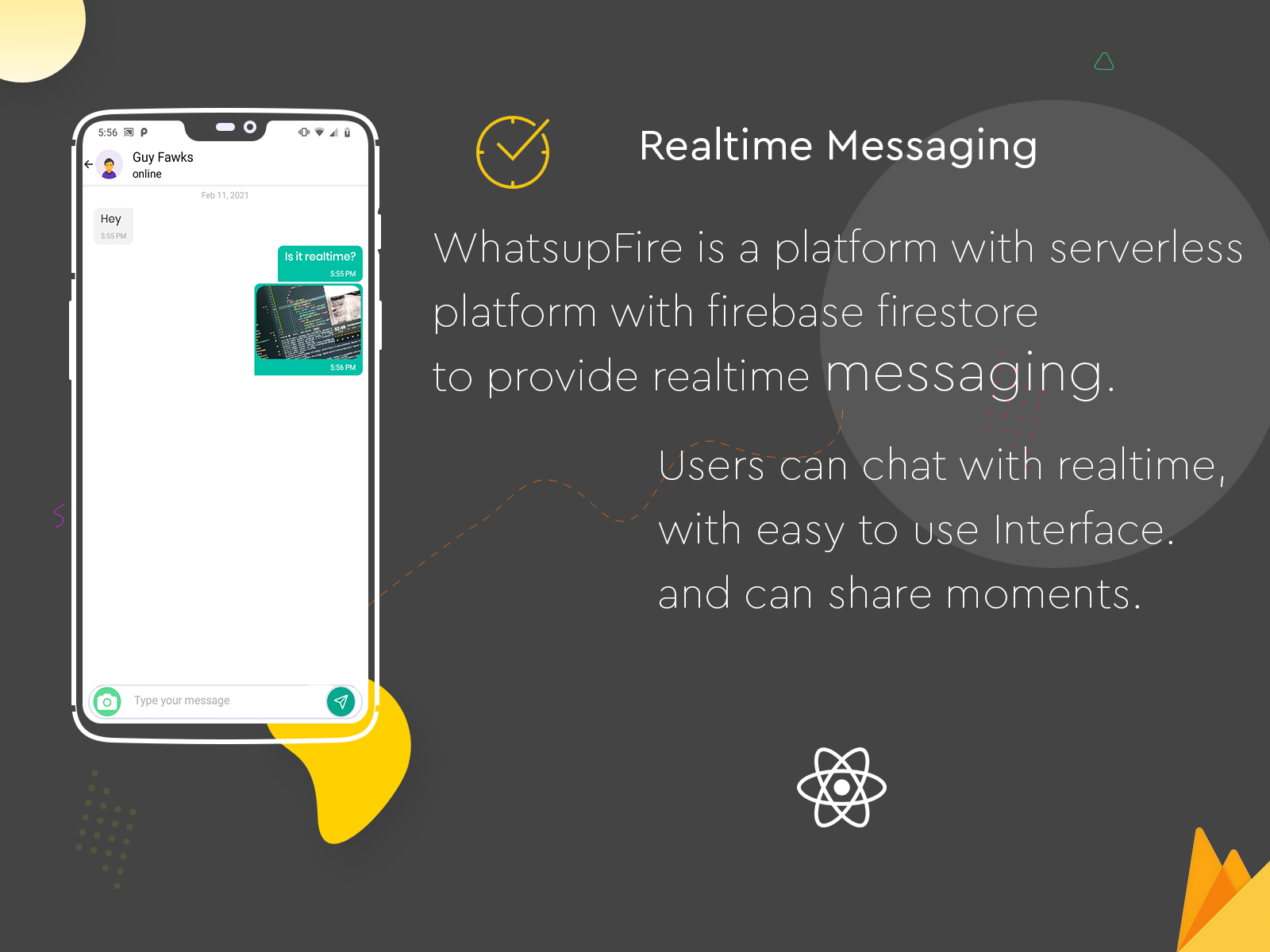 WhatsupFire - React Native Messenger - 3
