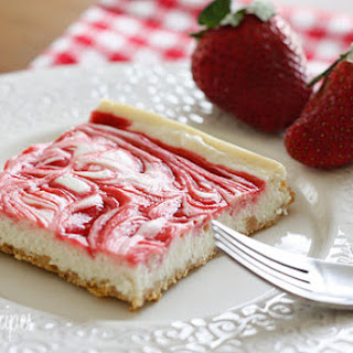 Strawberry Swirl Cheesecake.