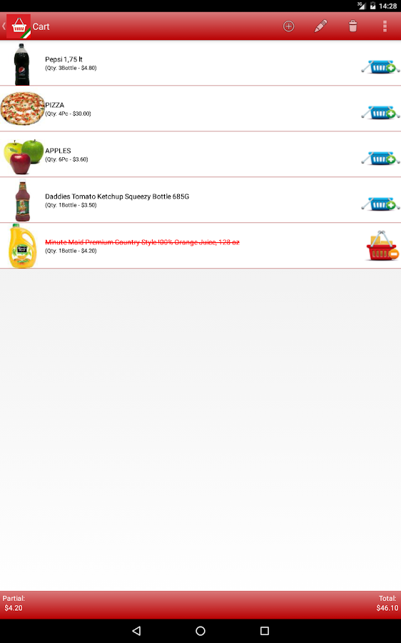 Shopy Free (Shopping List)- screenshot