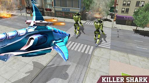 Warrior Robot Sharku2013 Shark Robot Transformation apktram screenshots 5