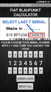Blaupunkt Fiat Radio Code Decoder - Apps on Google Play