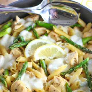Chicken, Pasta and Asparagus Skillet