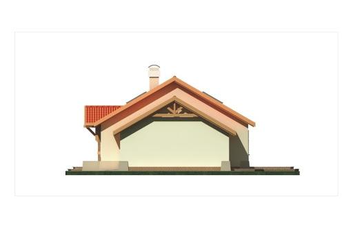Azalia II wersja C z pojedynczym garażem - Elewacja prawa