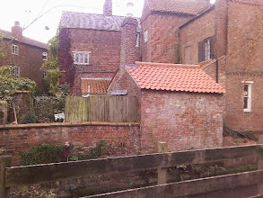 Photo: Probably a Chandlers yard when the straightened Bain river carried sloops upto the mill and Bell's yard at Tesco. The little boat house, an added chimney running up the rear of it's main house, ornate Georgian garden walls, shutters and small bedroom windows, with memories of the 'window tax' probably still influencing builds.