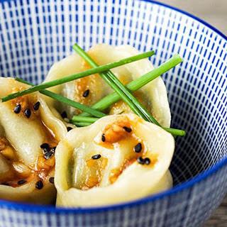 Homemade Dumplings With Peanut Chili Sauce [Vegan]