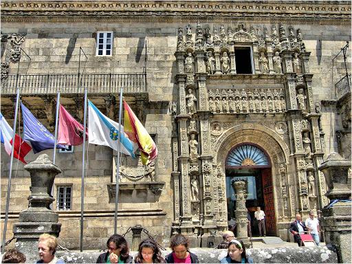 Spain-Santiago-de-Compostela - Hospital Real in Santiago de Compostela, Spain.