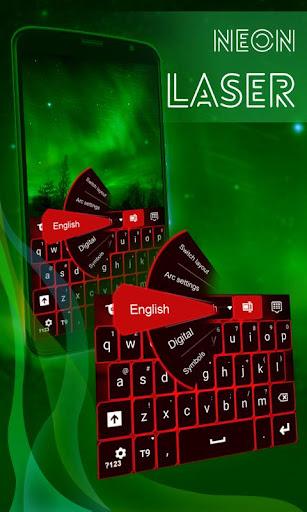 ネオンレーザーキーボード