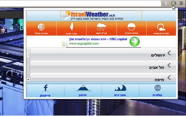 תחזית מזג האויר