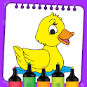 Kids Coloring Book Paint & Coloring Games for Kids icon