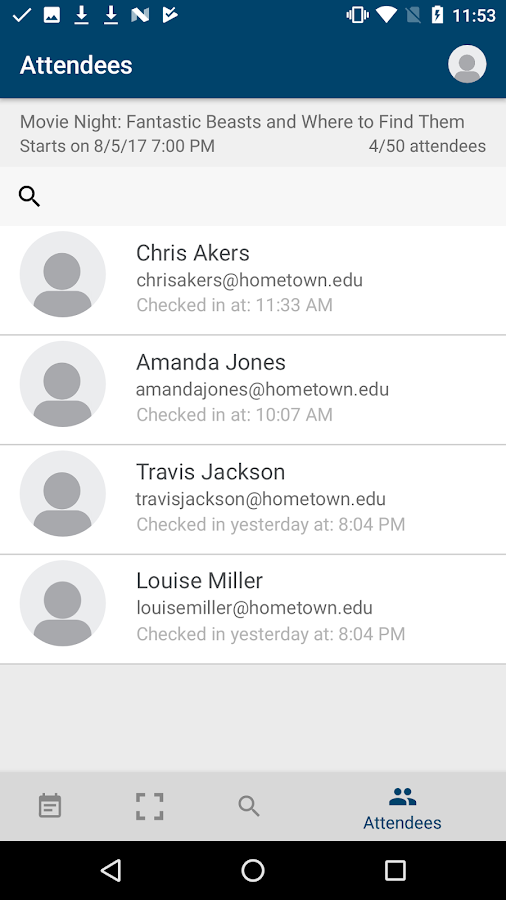 Campus Labs® Event Check-in- screenshot