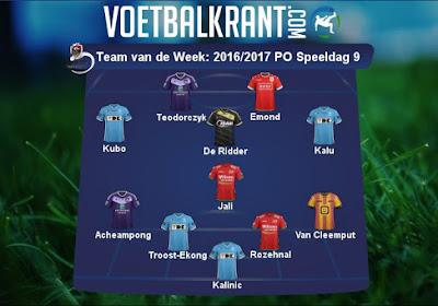 Heel wat jongens van Gent en uiteraard ook Teodorczyk in ons Team van de Week