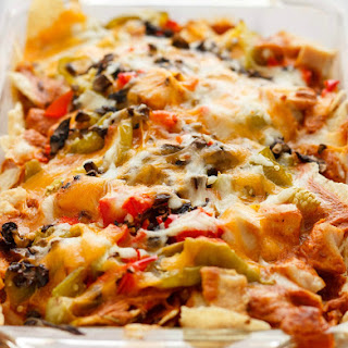 Mexican Chicken Casserole with Tortilla Chips.