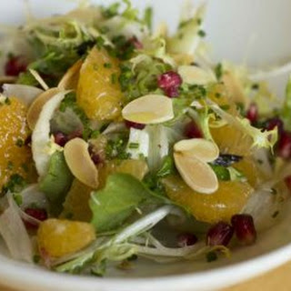 Jose Andres' Clementine and fennel salad with almonds, olives and pomegranate
