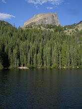Photo: Hallett Peak rising above Bear Lake. The true summit is not visible from here.