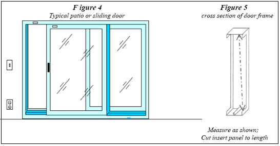 patio panel pet door