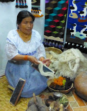 Photo: Cleaned wool ready for spinning into thread