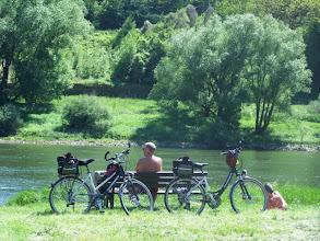 Photo: Radfahrer bei der Pause im Ferienland Cochem