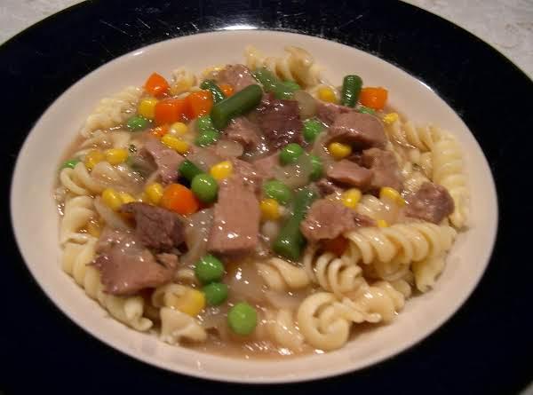 Prime Rib Over Noodles (leftover Magic!)