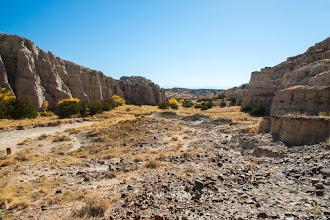 Photo: View through canyon; Plaza Blanca, Abiquiu, New Mexico