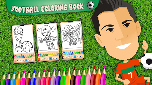 Football coloring book game apkpoly screenshots 6