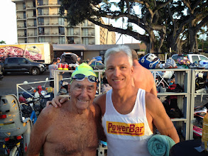 Photo: Ironman legend Bill Bell, now 91, shows up for an early morning swim