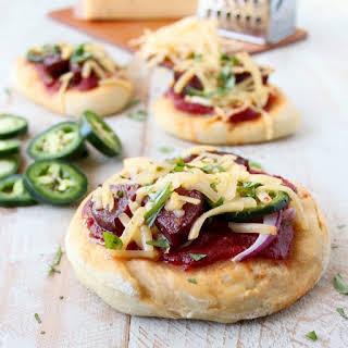 Spicy Sausage Mini Pizzas.