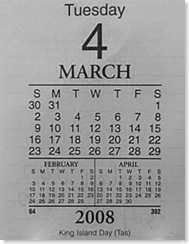 индокитайский календарик