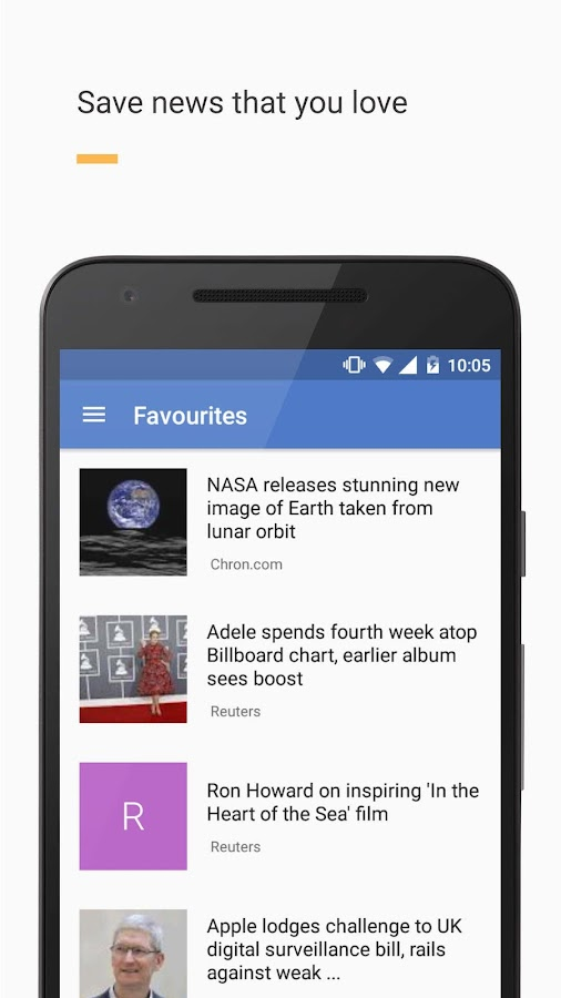 Newslet: News reader- screenshot