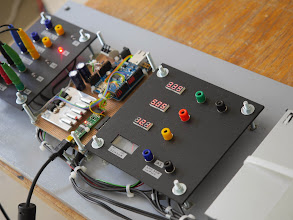 Photo: The electronics consist of an Arduino Ethernet, a couple of transistors and an FTDI board