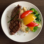 10 oz NY Steak & Mashed Potatoes & Vegetables