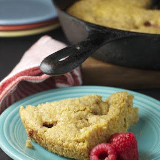 Skillet Raspberry Cornbread ~vegan~
