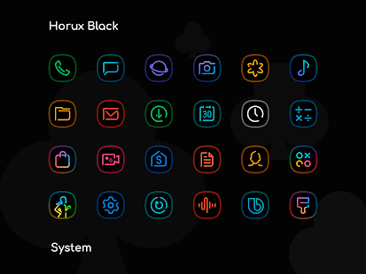 Horux Black – S9 Icon Pack v1 9 (Paid) Apk | AndroPark