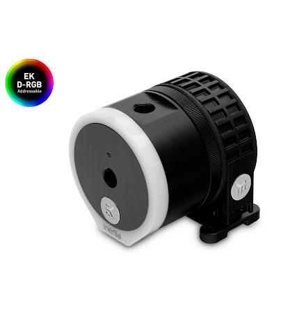 EK pumpe m/pumpetopp, EK-Quantum Inertia D5 PWM D-RGB - Acetal