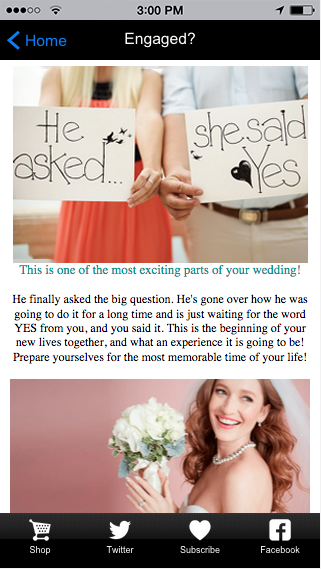Florida Bride Magazine- screenshot