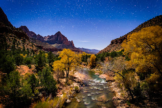 Photo: Forgotten Zion  I didn't title this because because have forgotten Zion or this is an uncommon picture of Zion... BUT... because I forgot I had never even looked at the travel pictures I took of Zion except to post maybe 4-5 on Google+ a few months ago.  They will still remain a surprise for me to go through one of these days as I just grabbed the first good one I could see and put it up here. We'll see if I have time prior to my next trip.  This was taken Nov 17 alongside +Colby Brown +Peyton Hale +Casey McCallister and I think +Jim Davis +Mark Burnham might have been on the bridge with us but maybe they were shooting somewhere else.  Moral of the Story Anyway the moral of the story is that I love love travel photography and do A LOT of pictures BUT they have to take a back seat to the pictures that people pay me to take.  TECH Because I know people will ask  30 seconds f/2.5 24mm 800iso