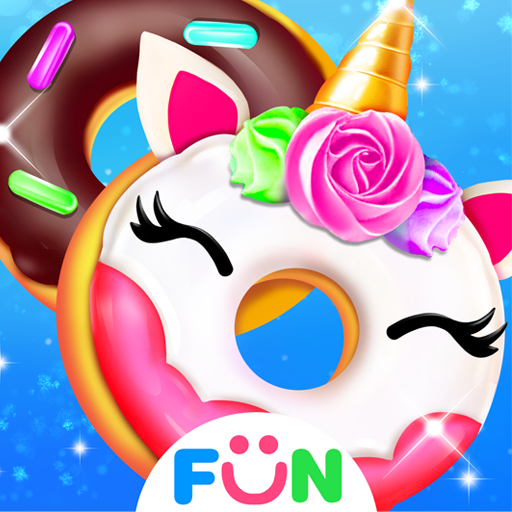 Cook Donut Maker - Unicorn Food Baking Games