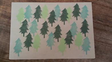 Photo: 二つ折りカード5 (forest)〈表〉