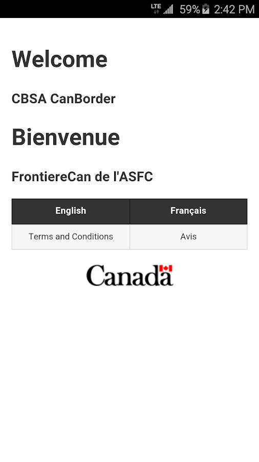 CBSA CanBorder- screenshot